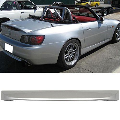 Rear S2000 Lip (Pre-painted Trunk Spoiler Fits 2000-2009 Honda S2000 | OE Style ABS Painted #NH552M Sebring Silver Rear Tail Lip Other Color Available By IKON MOTORSPORTS | 2001 2002 2003 2004 2005 2006 2007 2008)