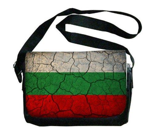 Bulgaria Flag Crackled Design Messenger Bag
