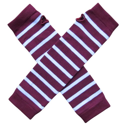 l Spirit Sports Fan ARM Warmers, Baby, Toddler, Girl, Boy (Team Maroon Burgundy & White) (Baby Arm Leg)