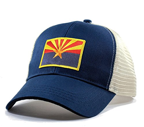 Homeland Tees Men's Arizona Flag Patch Trucker Hat - (State Flag Trucker Hat)
