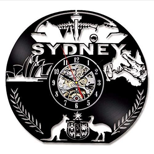 ZCGHGXGJ Orologio da Parete in Vinile Orologio da Parete Vintage Design Moderno - Bathroom Made Mirrors Custom Sydney