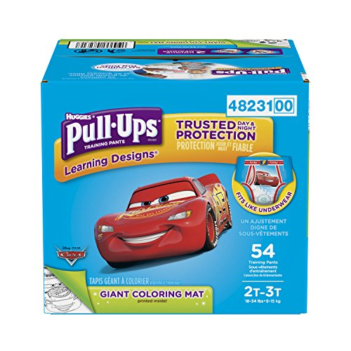 Pull-Ups Learning Designs Potty Training Pants for Boys, 2T-3T (18-34 lb.), 54 Ct. (Packaging May Vary) by HUGGIES