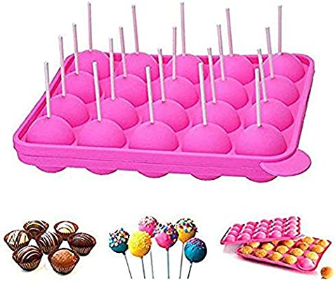 newthinking 20 de silicona bandeja Pop Cake Stick mould- Lollipop partido de utensilios para hornear molde, Jelly y Chocolate, 20 unidades de incienso, ...