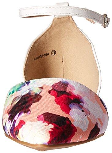 Droompaar Womens Flapointed-nieuwe Pump Floral White