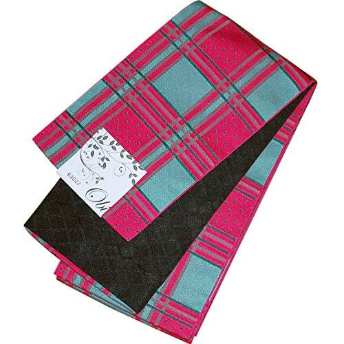 腐敗したトリッキーバーマド日本製 自宅で洗える 半幅帯 小袋帯 リバーシブル 半巾帯 細帯 市松