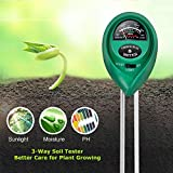Lailieu Soil Test Kit 3-in-1 Soil Tester with Moisture,Light and PH Meter, Indoor/Outdoor