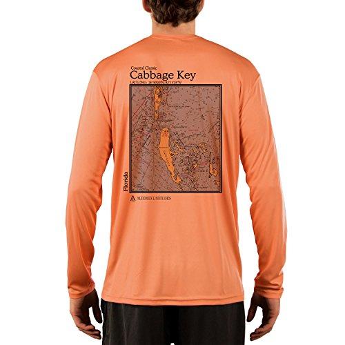 Coastal Classics Cabbage Key Chart Men's UPF 50+ Long Sleeve T-Shirt X-Large Citrus