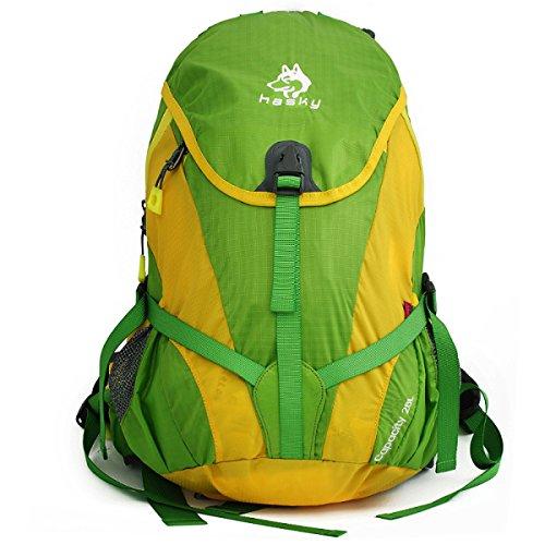 28L Al Aire Libre Deportes Mochila Camping Mochila Para Mujeres Hombres,Orange-OneSize Green