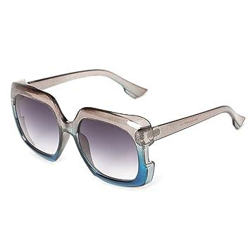 2575f311f8 SLYlive carré Lunettes de Soleil Grand Cadre pour Homme Femme, Marque de  Mode Designer UV400