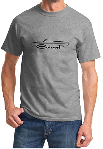 1968 1969 Dodge Coronet Convertible Classic Outline Design Tshirt XL grey