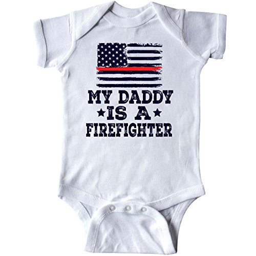 inktastic - Fireman Daddy is A Firefighter Infant Creeper 6 Months White 2ec6d]()