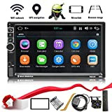 Double Din Android 8.1 Car Stereo in-Dash GPS Navigation Support Bluetooth 4.0, WiFi/3G, Mirror Link, Car Radio Audio Vehicle Head Unit with Free Rear Camera and Car Remote