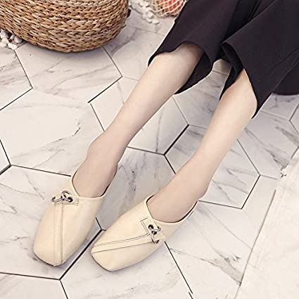 dbb3b8f33599 Amazon.com   GAOLIM Spring And Summer Square Head Shoes Baotou Cool ...