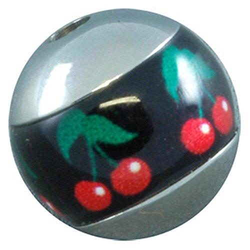 Meridian Cherry - BodyJewelleryShop Titanium Meridian Threaded Ball - Cherries 8mm