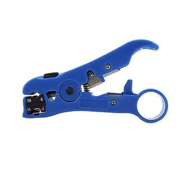 cogeek mulitifunctional cortador de alambre de cable coaxial Stripper RG59 RG6 RG7 RG11 pelacables automático para