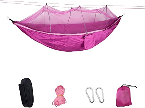 SZYT Portable Camping Hammock with Net and Storage Bag Nylon Lightweight for Adult
