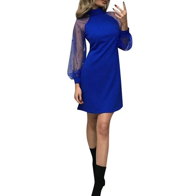 Donna Vestito Elegante LianMengMVP Partito Sexy Collant Maglia Manica Lunga  Camicia Maniche Lunghe Casuale Maglione Autunno Inverno Camicia Maglietta  Felpa ... 0a08c1284f3