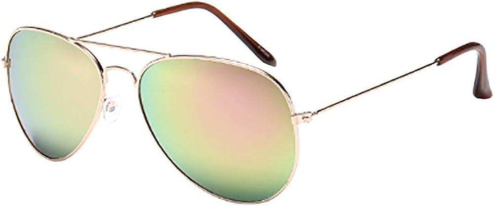 Fudule Womens Men Vintage Cateye Mirrored Lens Polarized Sun Glasses Unisex Oversized Frame UV Protection Sunglasses