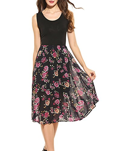 zeagoo-womens-casual-contrast-sleeveless-patchwork-chiffon-floral-print-a-line-midi-dress-small-blac