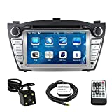 7'' Touchscreen Monitor Car GPS Navigation System for HYUNDAI TUCSON 2010 2011 2012 2013 2014 2015 2016/HYUNDAI IX35 2010-2016 Car Stereo DVD Player +Free Backup Rear View Camera+Free US Map