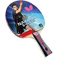 Butterfly Nakama S-7 Table Tennis Racket - Professional ITTF Approved Ping Pong Paddle - Sapphira Table Tennis Rubber and Thick Sponge Layer Ping Pong Racket - 2 Ping Pong Balls Included