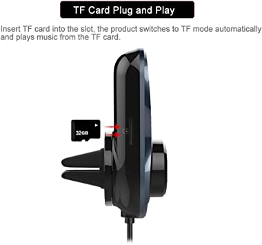 Upgraded Version Bluetooth FM Transmitter Sumind Wireless Radio Adapter
