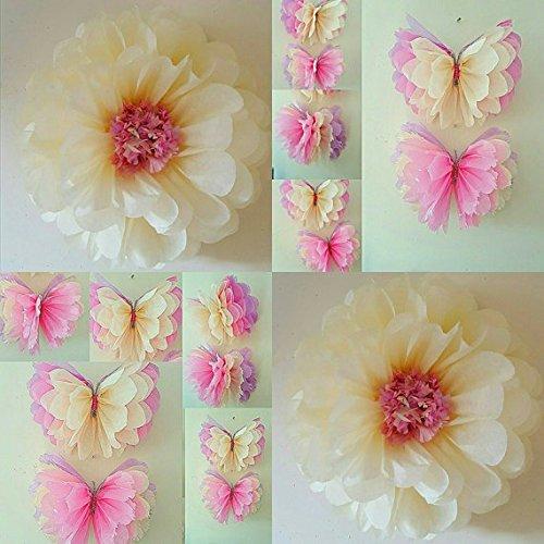 2 wall flowers 2 wall butterflys tissue paper party wedding birthday 2 wall flowers 2 wall butterflys tissue paper party wedding birthday decorations mightylinksfo