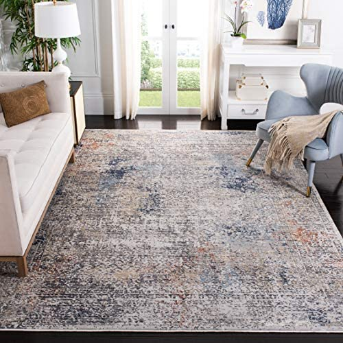 Safavieh DRM426F-8 Dream Collection DRM426F Grey and Blue 8' x 10' Area Rug,