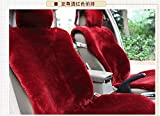 Faux Sheepskin Car seat cover Front Fur Covers Universal ...