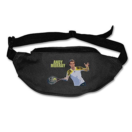Price comparison product image 101Dog Outdoor Bumbag Andy Murray Tennis Mini Dumpling Waist Bag Packs Hip Bags For Women Man Outdoors Workout - Great For Running Hiking Travel Sport Fishing