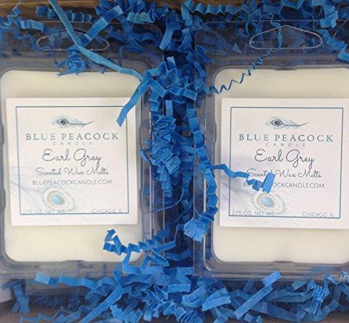 2 Pack Earl Grey Wax Melts - 2 Scented Wax Tarts - Free Ship