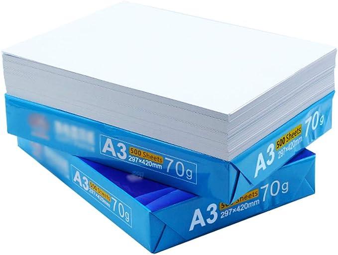 A3 Copia de Papel 500 Hojas/Paquete A3 Papel Imprimir Papel de Copia Dibujo Boceto Papel Blanco 80g / 70g Tamaño 297mmX420mm (Tamaño : 80): Amazon.es: Electrónica