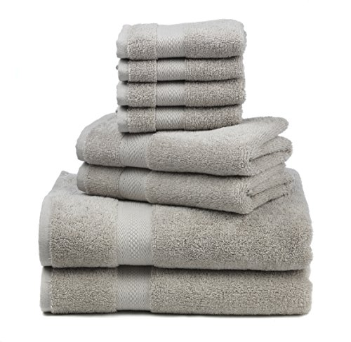 """16 X 11 Sweat Towel: Premium 100% Cotton 8-Piece Towel Set 2 Bath Towels 30"""" X"""
