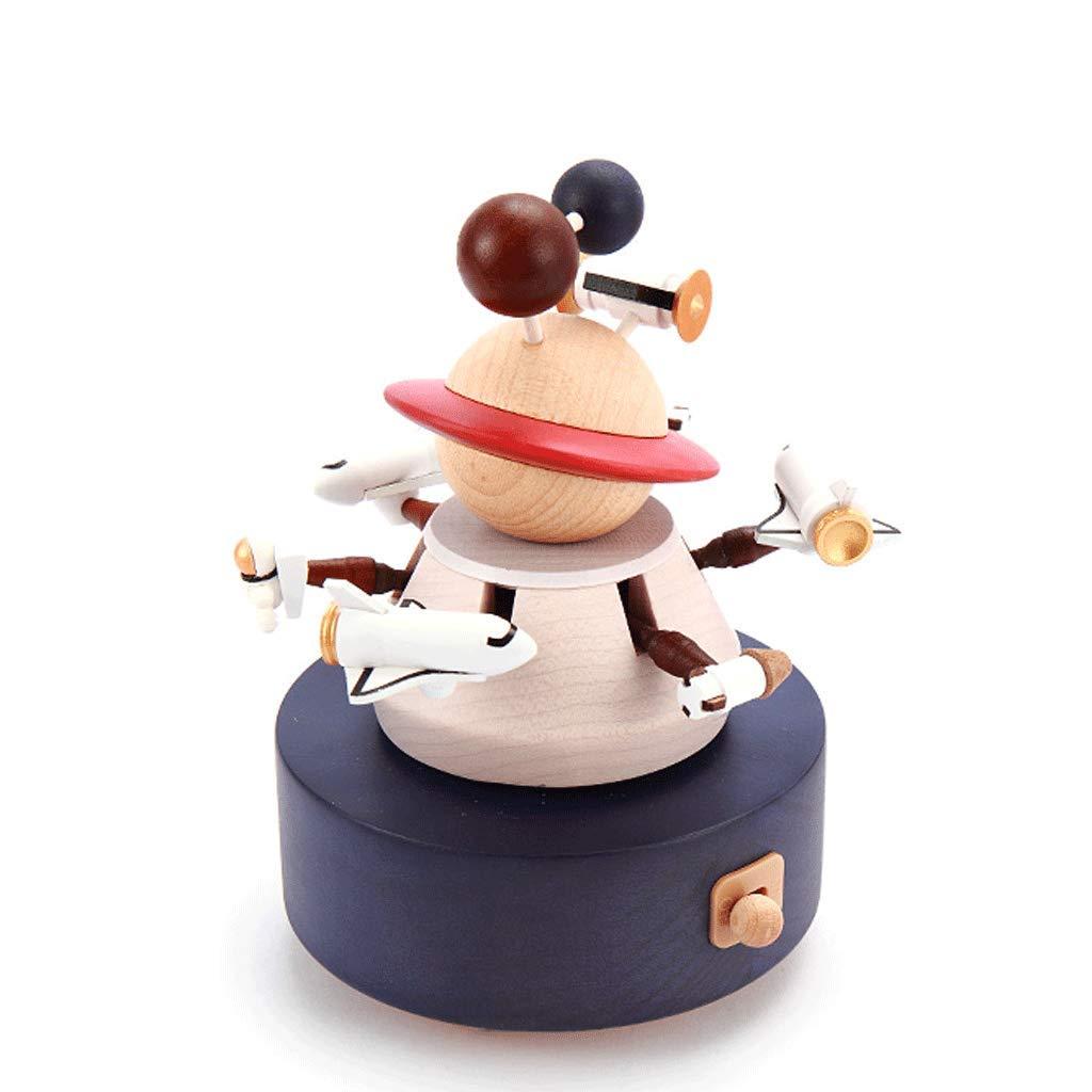 Music Box Penguin family music box Wooden handmade music box birthday present