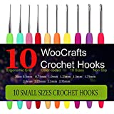 Best Ergonomic Crochet Hooks - 10 Small Size Steel Crochet Hook Set Thread Review