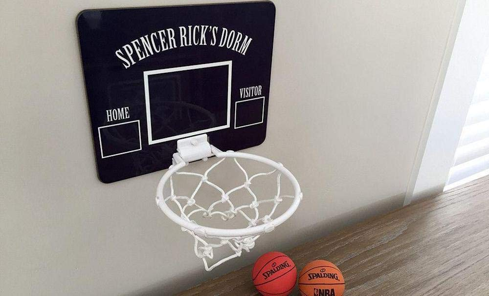 Qualtry Personalized Mini Basketball Hoop Wall Mount - Unique Birthday Gifts for Boys Kids (Spencer Design) by Qualtry (Image #1)