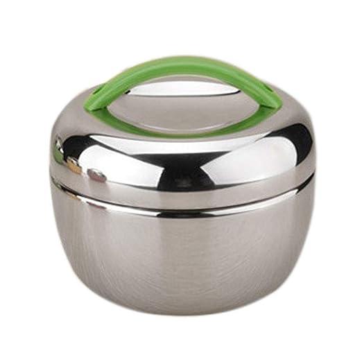 Milopon - Fiambrera térmica, doble capa, aislante, de acero ...