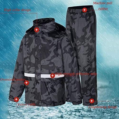 TD Veste pour Homme Raincoat Imperméables for Hommes et Camouflage Set imperméable Coupe-Vent Respirant de sécurité réfléchissants bienvenus Poncho Randonnée (Size : X-Large)