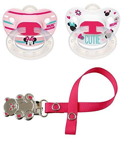 NUK Niñas - Minnie Mouse Disney - Juego de chupetes Chupete Chupete ...