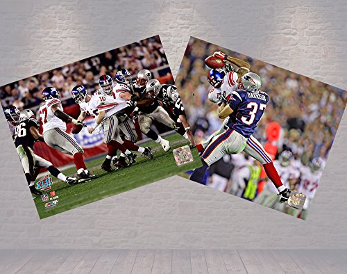 The Helmet Catch! Super Bowl 42, The New York Giants Eli Manning and David Tyree. Two 8x10's Photographs
