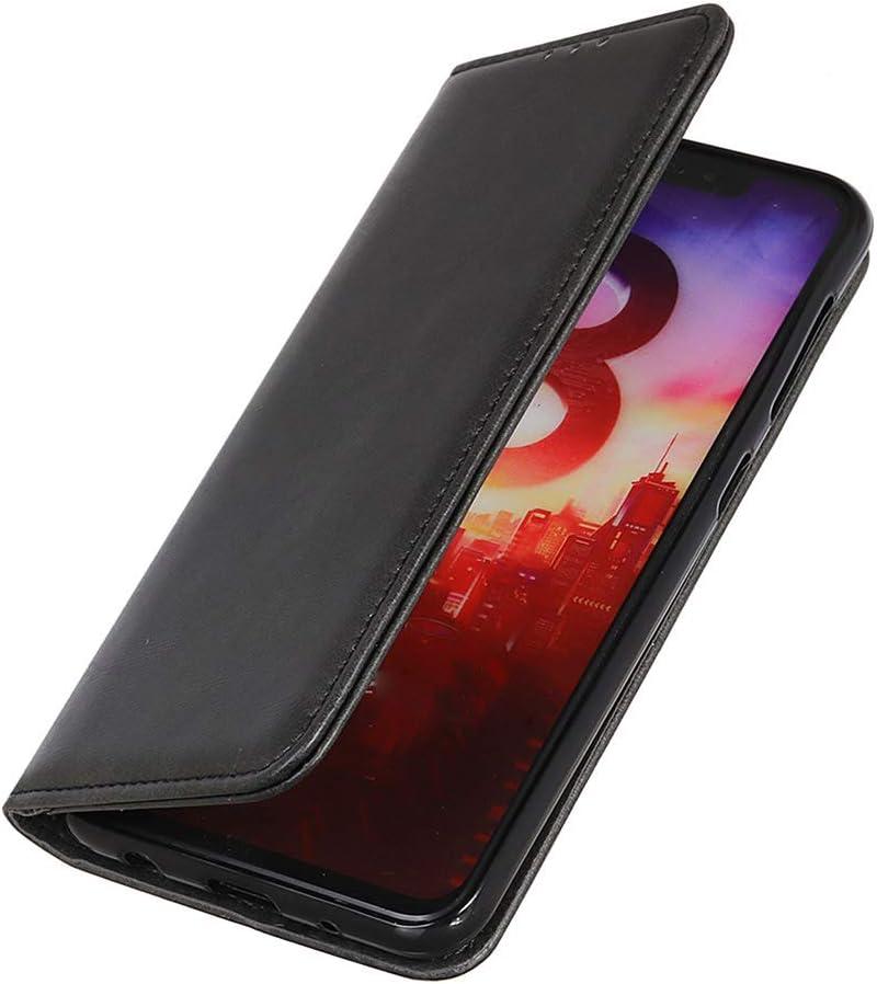 HAOYE Funda para Xiaomi Redmi Note 9S Case Billetera, Suave PU Cuero Flip Carcasa, con Soporte/Tapa Tarjetas/Atracción magnética, Xiaomi Redmi Note 9S Flip Estuche, Negro