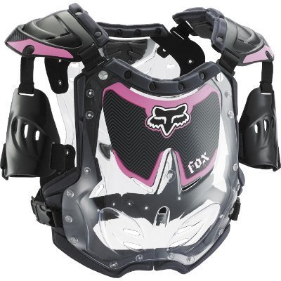 Fox Racing Youth Girl's R3 Roost Deflector - Small/Black/Pink by Fox