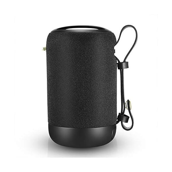 Enceinte Bluetooth Portable, 20W Enceinte Bluetooth Waterproof Haut-Parleur sans Fil, Pilote Double, Son 360° Basses Puissantes, Carte TF Support, Autonomie de 12 Heures pour Camping l'extérieur 1