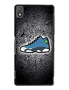 2497671M152238166 Sony Xperia Z3 Case Skin, Fashionable Air Jordan Sneaker Image [Non-Slip] Hard Plastic Case Cover for Sony Xperia Z3
