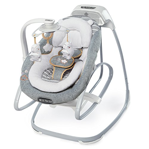 Ingenuity Boutique Collection Smart Size Gliding Swing & Rocker, Bella Teddy