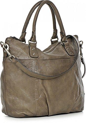 rehard, Femme Sacs à main, sac à bandoulière, sac, Tote Bag, Taupe, 31x 43,5x 16cm (B x H x T)