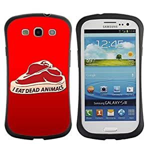 Hybrid Anti-Shock Bumper Case for Samsung Galaxy S3 / Meat