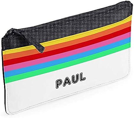 Caja de lápices negra Rainbow personalizada: Amazon.es: Oficina y ...