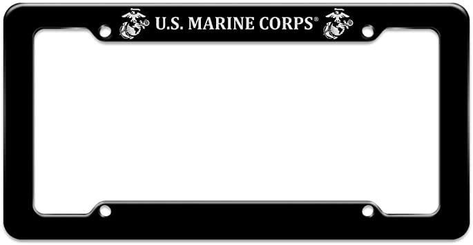 License Plate Frame Once A Marine Usmc Always A Marine Military Car Accessories