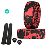 URBAN ZWEIRAD Tear-resistant bicycle handlebar tape incl. end stopper and adhesive strips - extra...